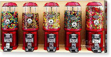Gumball 5 . Digital Interpretation Canvas Print by Wingsdomain Art and Photography