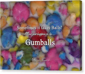 Gumballs #0000d Canvas Print by Barbara Tristan