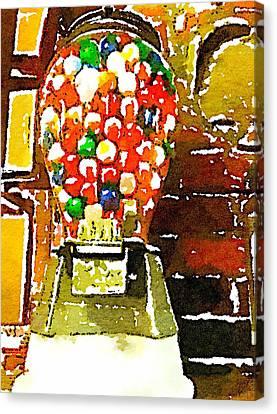 Gumballs Canvas Print by Judy Bernier