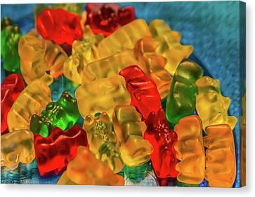 Gummy Bears Canvas Print by Scott Kwiecinski