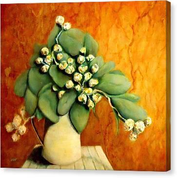 Gumnuts Still Life Canvas Print