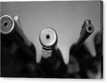 Gun Barrels Canvas Print by Gina  Zhidov