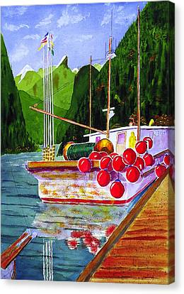 Gunboat Slough Bouys Canvas Print by Buster Dight