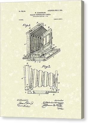 Camera Canvas Print - Gundermann Photographic Camera 1904 Patent Art by Prior Art Design