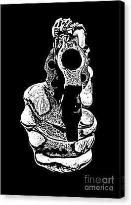Gunman T-shirt Canvas Print by Edward Fielding