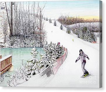 Gunnar Slope And The Ducky Pond Canvas Print by Albert Puskaric