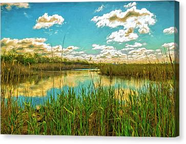 Gunnel Oval By Paint Canvas Print