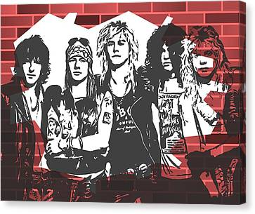 Famous Musician Canvas Print - Guns N Roses Graffiti Tribute by Dan Sproul