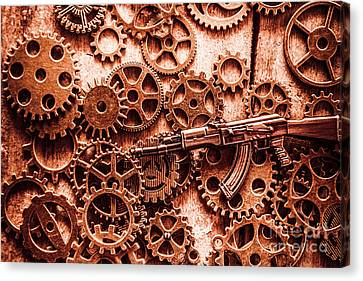Guns Of Machine Mechanics Canvas Print