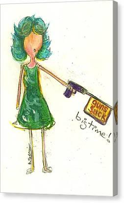 Guns Suck Bigtime Canvas Print