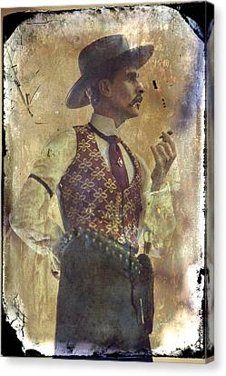 Shower Canvas Print - Gunslinger IIi Doc Holliday In Fine Attire by Toni Hopper