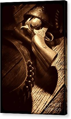 Gunslinger Tool Canvas Print by American West Legend By Olivier Le Queinec