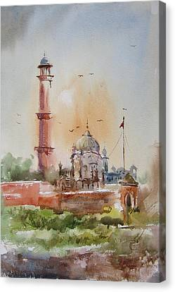 Gurdwara Lahore Canvas Print by MKazmi Syed