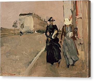 Gust Of Wind Canvas Print by George Breitner