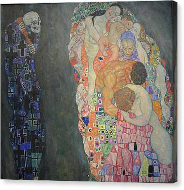 Gustav Klimt Death And Life Canvas Print by Magda Yamamoto