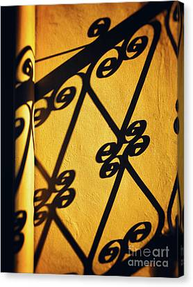 Gutter And Ornate Shadows Canvas Print