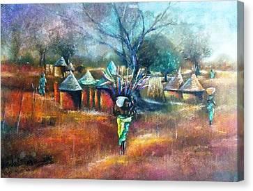 Gwari Village In Abuja Nigeria Canvas Print by Bankole Abe