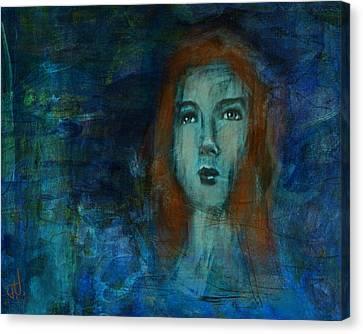 Canvas Print featuring the digital art Gwendolyn by Jim Vance