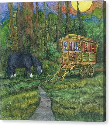 Wagon Canvas Print - Gwendolyn's Wagon by Casey Rasmussen White