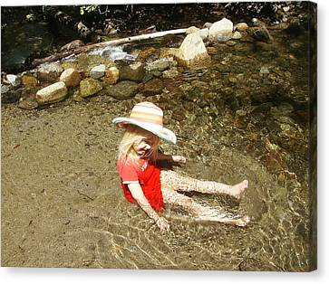 Canvas Print featuring the photograph Gwenyn At Galena Creek On Mt Rose by Dan Whittemore