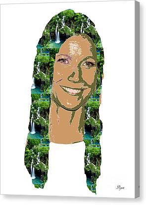 Gwyneth Paltrow Canvas Print by Dalon Ryan