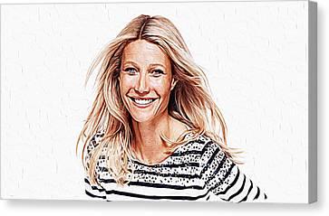 Gwyneth Paltrow Canvas Print by Iguanna Espinosa