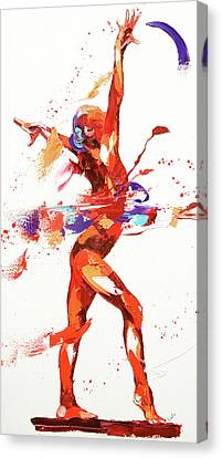Gymnast Four Canvas Print by Penny Warden