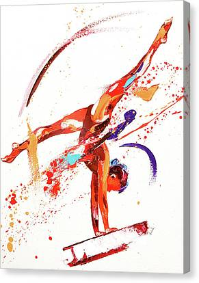 Routine Canvas Print - Gymnast One by Penny Warden