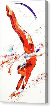 Routine Canvas Print - Gymnast Three by Penny Warden
