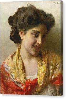 Gypsy Beauty Canvas Print by Federico Andreotti
