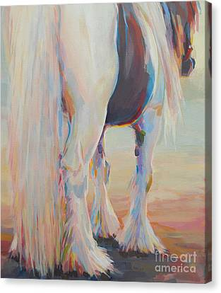 Draft Horse Canvas Print - Gypsy Falls by Kimberly Santini