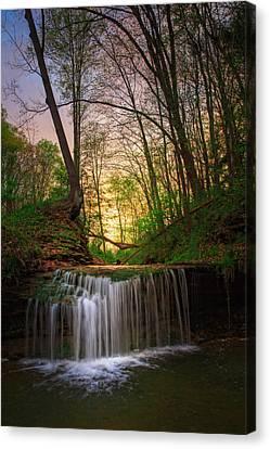 Gypsy Glen  Rd Waterfall  Canvas Print by Emmanuel Panagiotakis