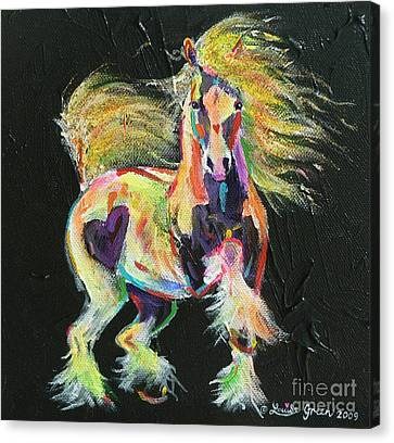 Gypsy Gold Pony Canvas Print by Louise Green