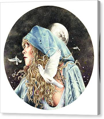 Dove Canvas Print - Gypsy by Johanna Pieterman