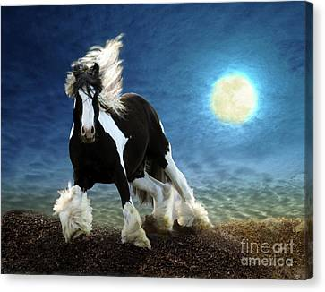 Gypsy Moon Canvas Print by Melinda Hughes-Berland