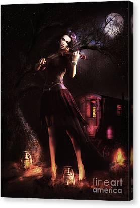Gypsy Canvas Print - Gypsy Moon by Shanina Conway
