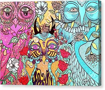 Canvas Print - Gypsy Owl by Amy Sorrell