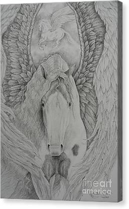 Gypsy Pegasus Canvas Print by Louise Green