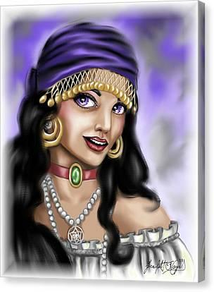 Gypsy Canvas Print by Scarlett Royal
