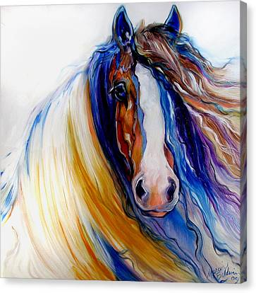 Gypsy Vanner Rogue Canvas Print by Marcia Baldwin