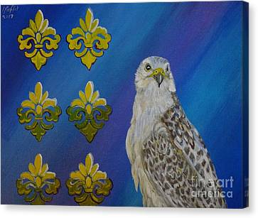 Gyr Falcon Canvas Print by Isabel Proffit