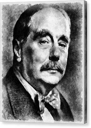 H. G. Wells Author Canvas Print by Mary Bassett