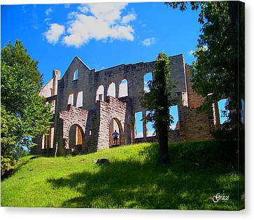 Ha Ha Tonka Castle Canvas Print by Julie Grace