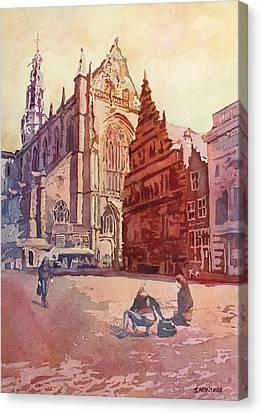 Haarelm Kirk Square Canvas Print