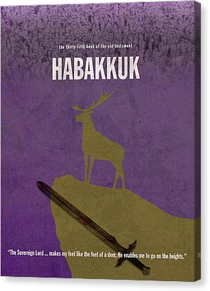 Habakkuk Books Of The Bible Series Old Testament Minimal Poster Art Number 35 Canvas Print
