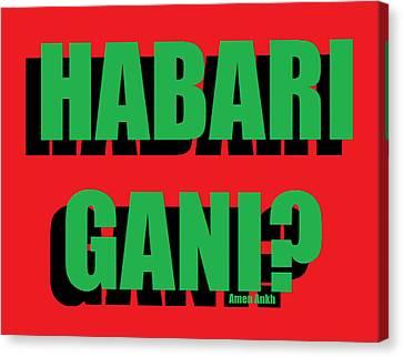Habari Gani Canvas Print