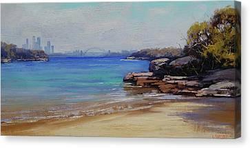 Habour Beach Sydney Canvas Print by Graham Gercken