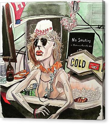 Canvas Print - Bathtub Ginny by Russell Boyle