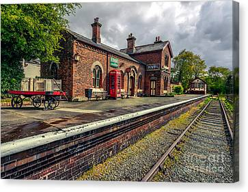 Hadlow Road Railway Station Canvas Print by Adrian Evans