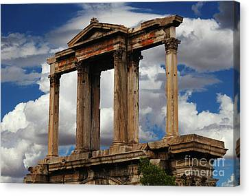 Arch Of Hadrian Athens Canvas Print
